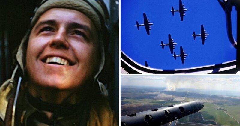 Огонь и ярость: цветные кадры американских бомбардировок Германии во время Второй мировой войны