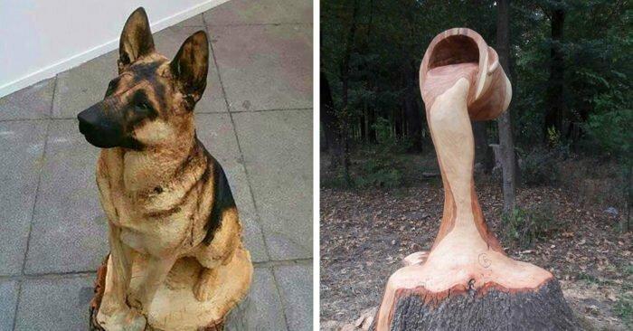 15 невероятных деревянных скульптур, которые поражают воображение