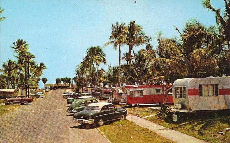 Как выглядели американские трейлерные парки в 50-е и 60-е годы