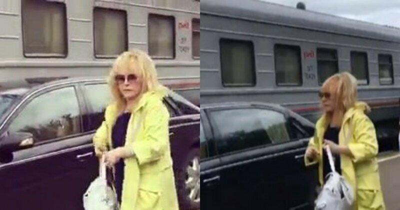 Пугачева выехала на перрон московского вокзала на личном авто и возмутила пассажиров