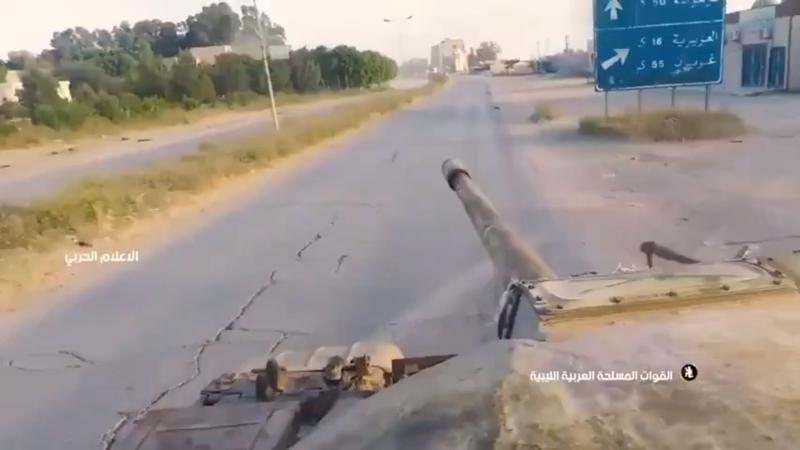 Ливийцы сняли бой на танке Т-55 от первого лица