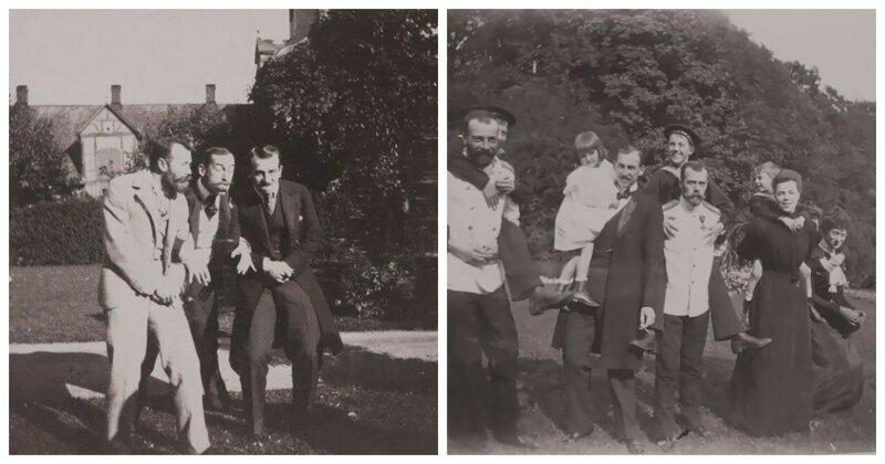 Веселое времяпрепровождение Николая II с друзьями в фотографиях 1899 года