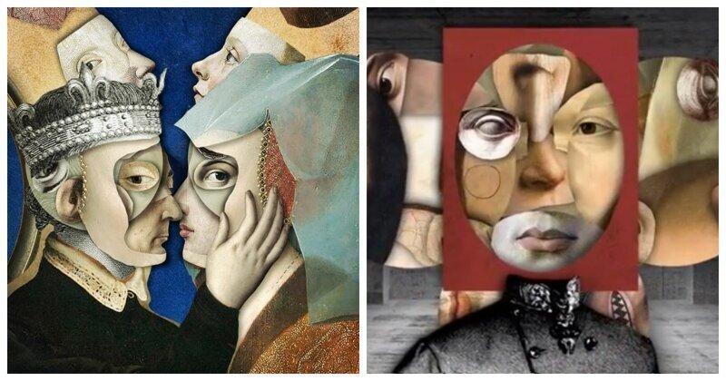 Причудливые коллажи из шедевров живописи