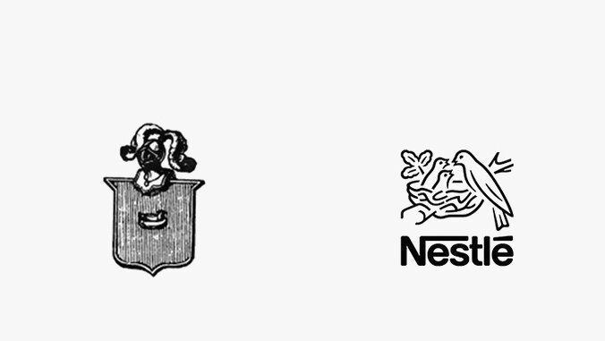 История логотипа Nestle