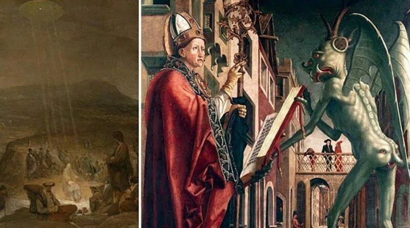 Некоторые люди убеждены в том, что на ряде самых известных исторических произведений искусства имеются отсылки к пришельцам