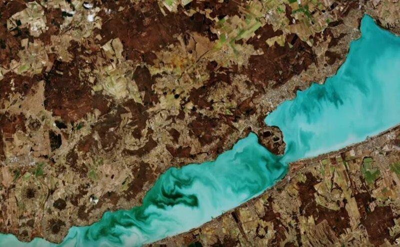 Из космоса показали красивейшее озеро Балатон