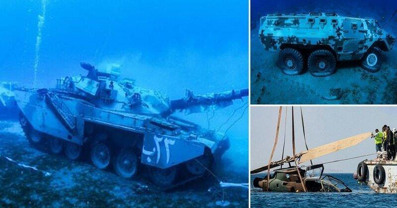 Иордания открыла свой первый подводный музей военной техники