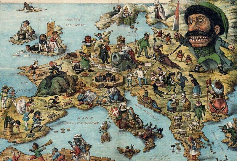 Европа  1875г