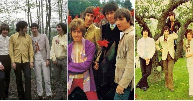 Цветные фотографии группы The Who из 1960-х