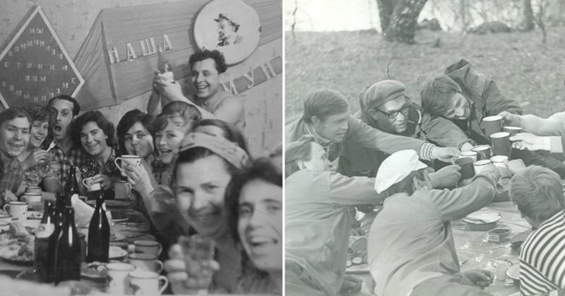 Фотографии советского застолья