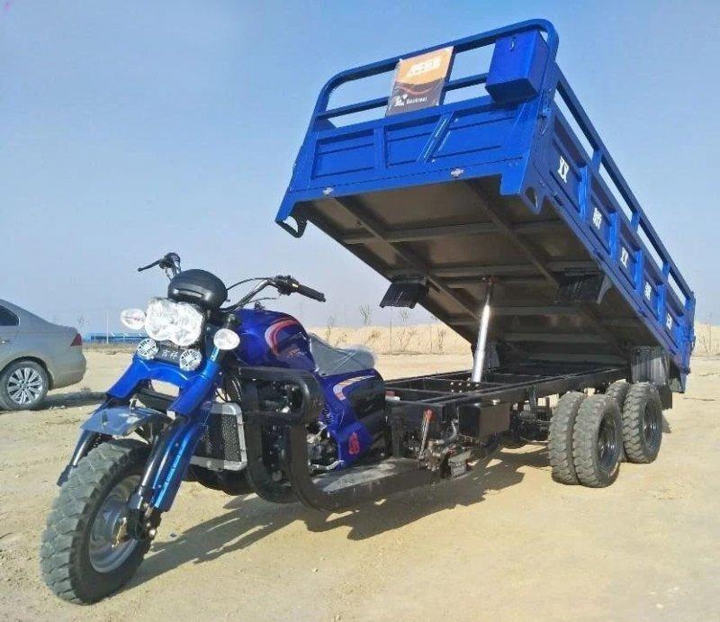 Трёхосные мотоциклы-самосвалы из Китая, которые используют вместо грузовиков