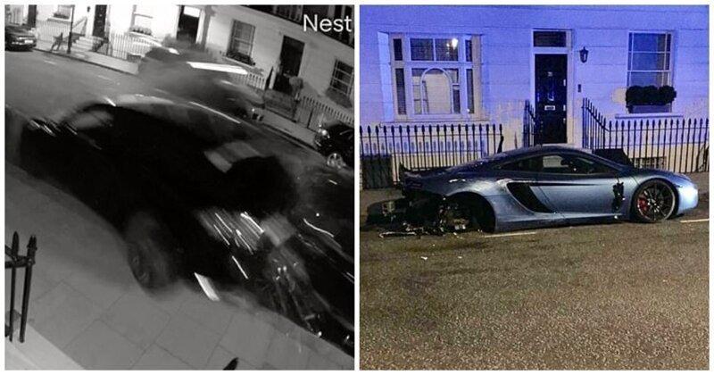 Во время гонки стритрейсер разбил одиннадцать элитных автомобилей: видео
