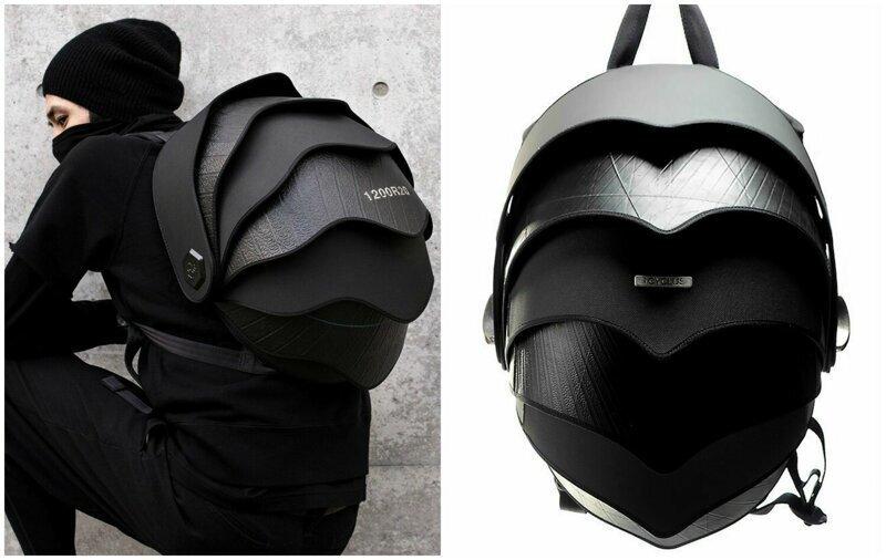 Дизайнеры придумали рюкзак-панцирь из переработанных резиновых шин