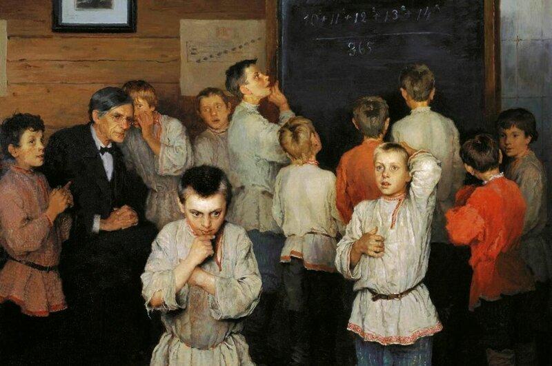Эти крестьянские дети действительно это в уме считали?