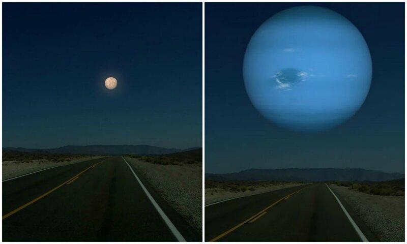 Как бы выглядело небо, если вместо Луны были бы другие планеты