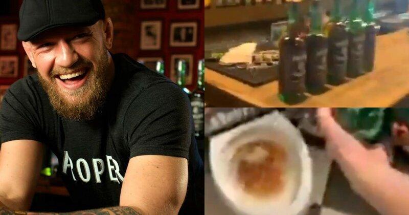 Ирландский паб призвал к бойкоту виски Макгрегора и слил напиток в унитаз