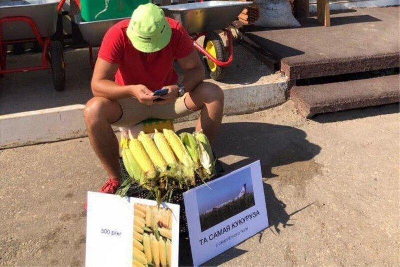 """Предприимчивый житель Саратова наладил продажу """"той самой кукурузы"""" с поля посадки А321"""
