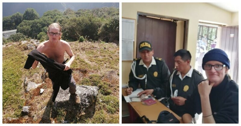 Полиция арестовала туристов, устроивших оголенную фотосессию в Мачу-Пикчу