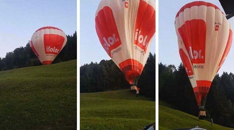 Момент крушения воздушного шара в Австрии попал на видео
