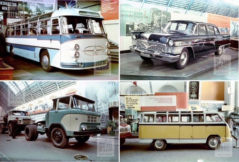 Выставка новых советских автомобилей 1961 года — редкие фото из архива ВДНХ