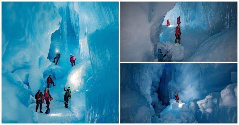 Украинцы нашли в Антарктиде «затерянную» пещеру