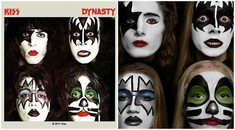 Семья копирует обложки легендарных музыкальных альбомов