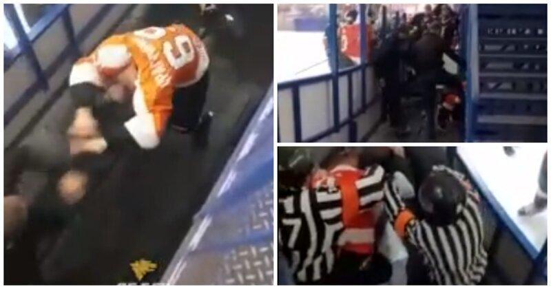 В Новосибирске болельщики избили хоккеиста на матче