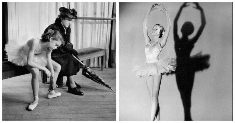 12-летняя Брижит Бардо в балетном классе Марселя Бурга