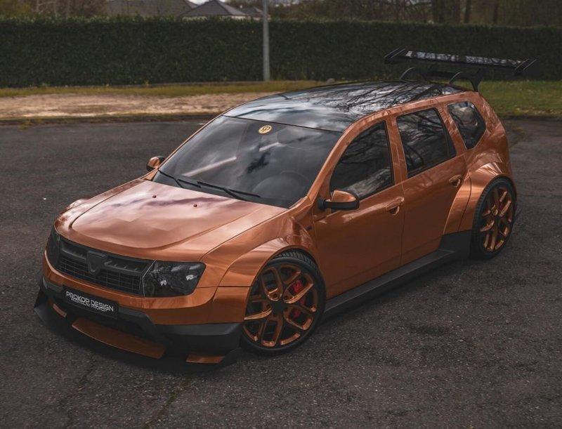 Дизайнер создал безумный Duster с широким кузовом и он выглядит почти реальным