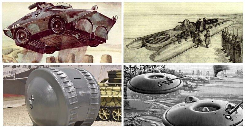 Прыгающие и атомные танки: топ-10 самых необычных бронемашин