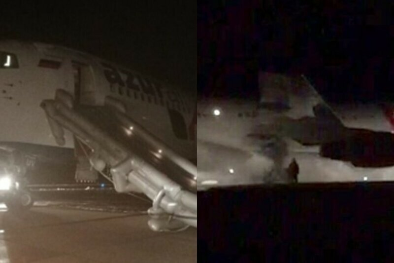 Огненная посадка: в Барнауле у Boeing загорелись шасси