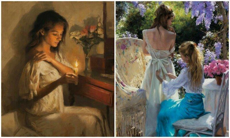 Нежная красота женщины в картинах Висенте Ромеро Редондо