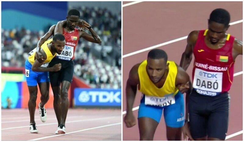 На чемпионате мира бегун из Гвинеи-Бисау помог сопернику добраться до финиша