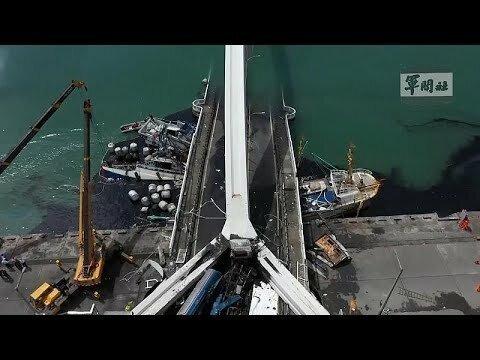 Десять человек пострадали на северо-востоке Тайваня при обрушении пролета моста