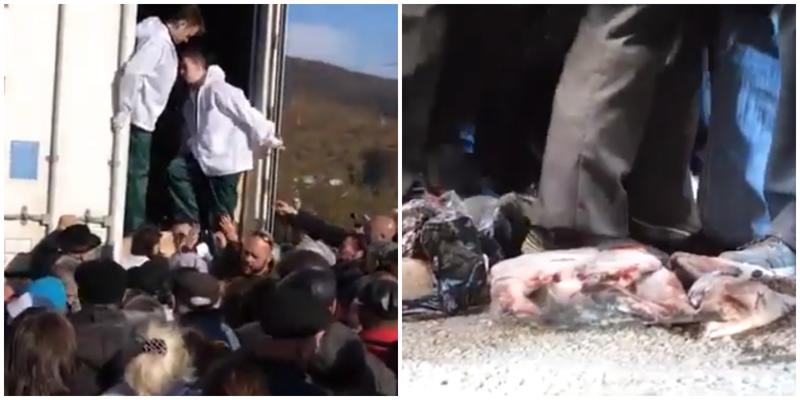 """""""Голодные игры"""": на Камчатке устроили давку из-за бесплатной рыбы"""