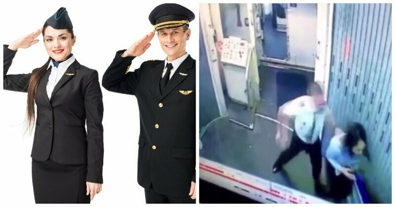 Опубликовано видео драки пилота и стюардессы в салоне самолета