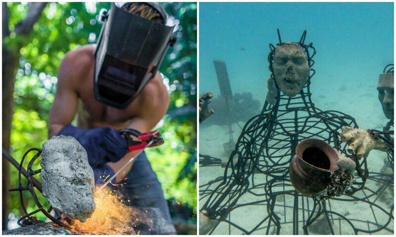 Американец смастерил подводную скульптуру для спасения кораллов