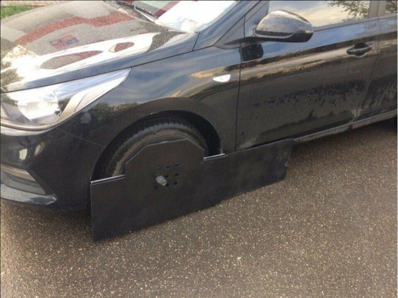 Интересное устройство для защиты своего автомобиля от эвакуации