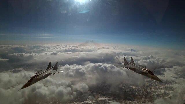 Дозаправка в воздухе перехватчиков МиГ-31