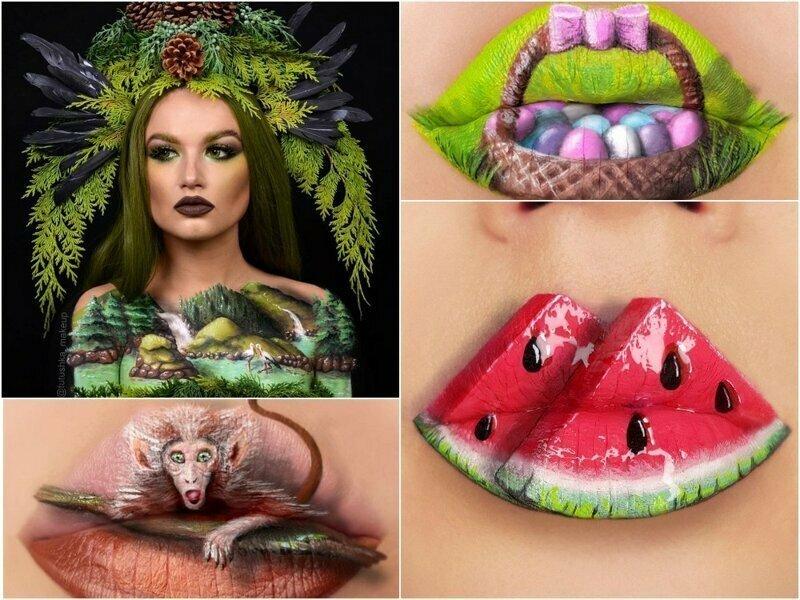 Визажист из Украины превращает губы в произведения искусства