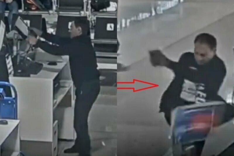 """Опоздавший на рейс грузин устроил истерику и погром в """"Шереметьево"""""""