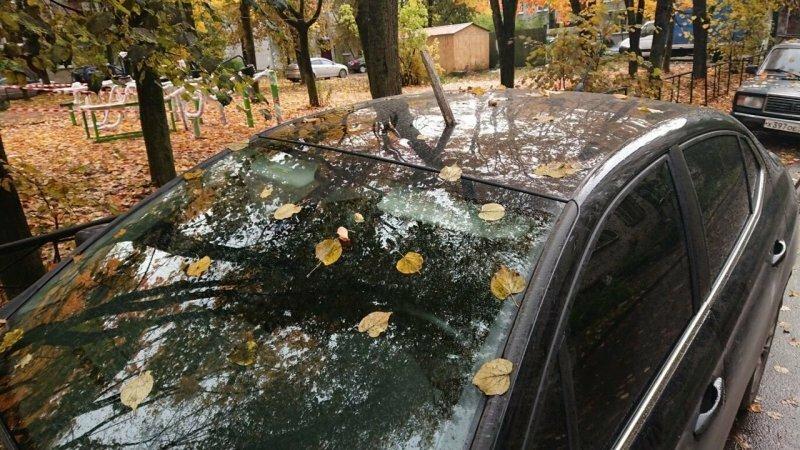 В Ленобласти неизвестные мстители воткнули лом в крышу припаркованной машины