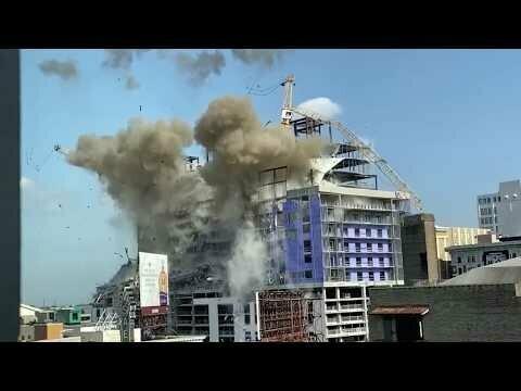 Взрывы в Новом Орлеане: взорвали краны над смертельной стройкой