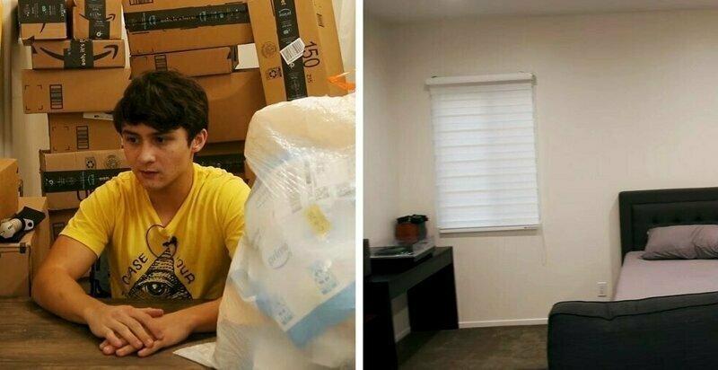 Блогер предложил подписчикам обставить его новую комнату и показал безумный итог этого эксперимента
