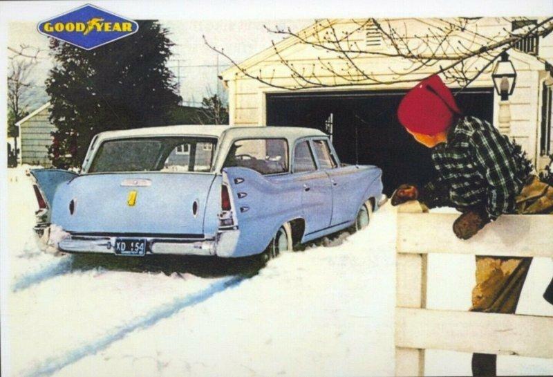 Винтажные рекламные листовки шин Goodyear 1955-1958