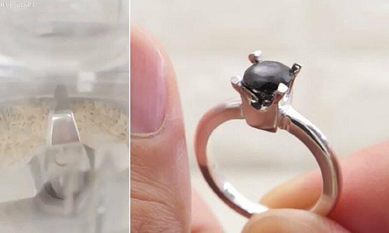 Японец создал бриллиант для невесты из ногтей