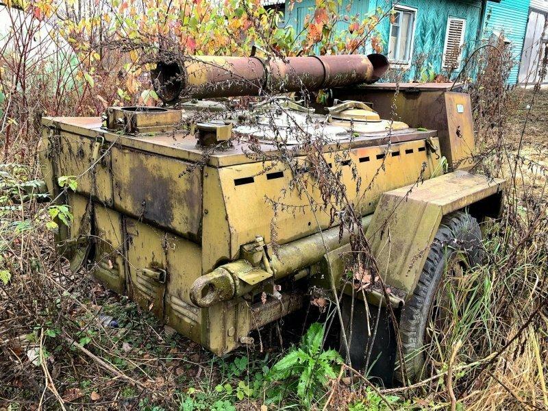 Военная передвижная полевая кухня КП-130, найденная в кустах