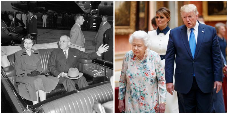 Королева Елизавета II и 14 президентов США