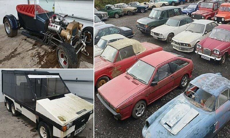 На задворках нашли коллекцию эксклюзивных авто. Берите, кто хотите!