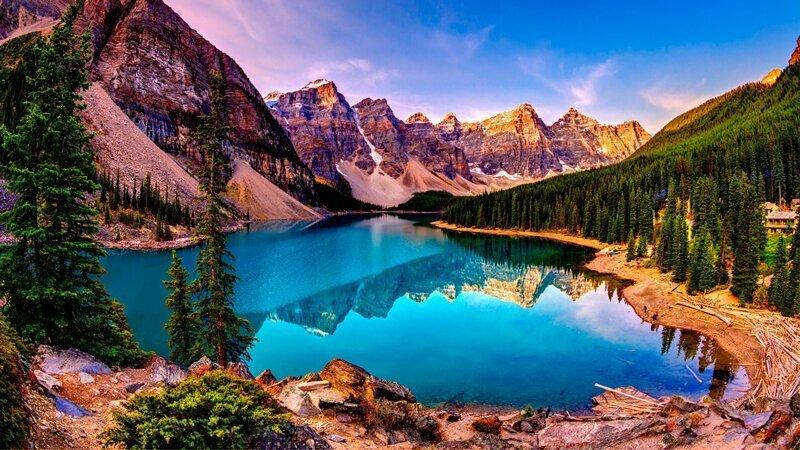 Будто бы озеро Мэтисон зеркалом покрыто